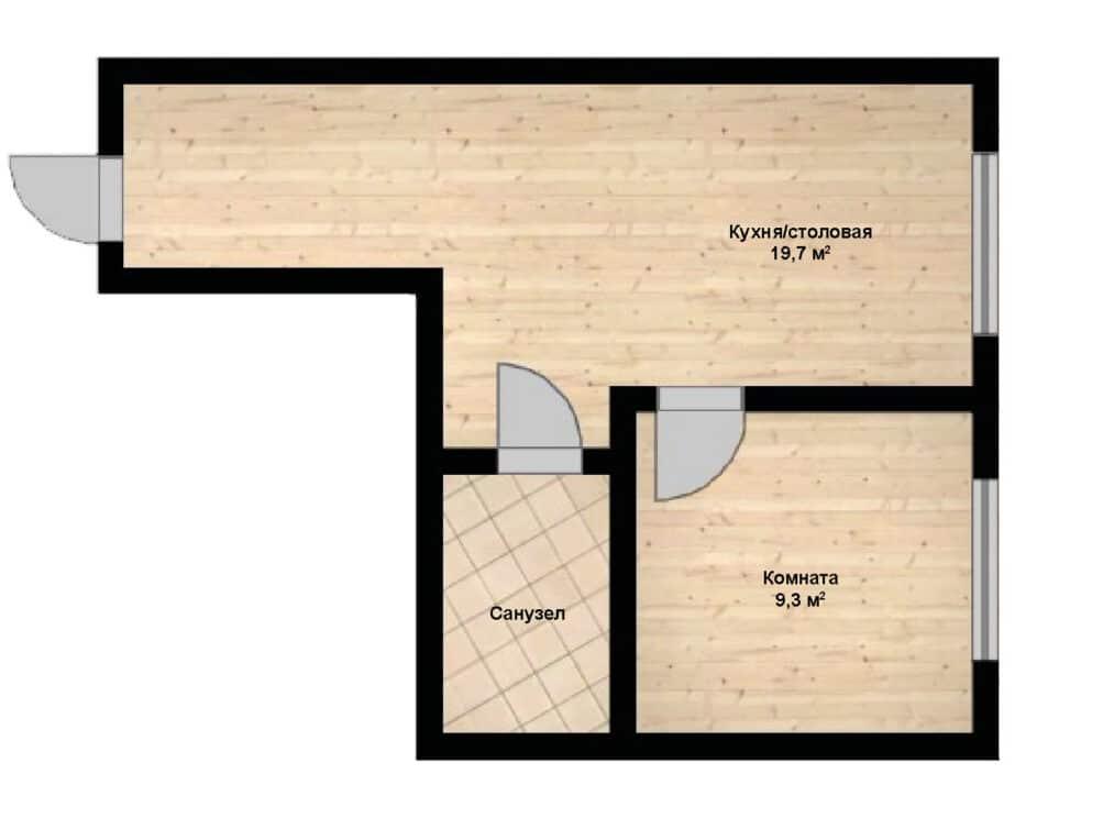 1-комнатная квартира в клубном доме София