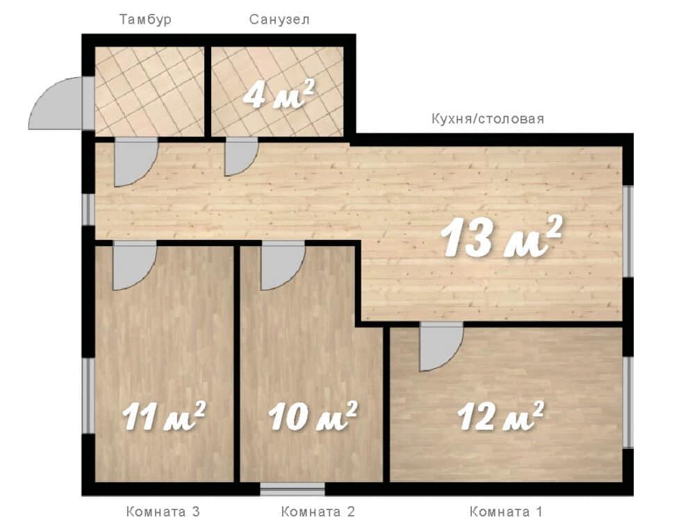 3-комнатная квартира в клубном доме София